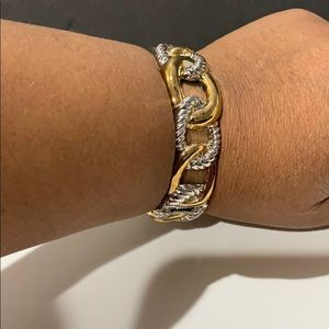 Gold and silver tone bracelet